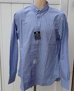 Lauren Mens Rugby dress shirt blue striped 15.5 15 1/2 nwt