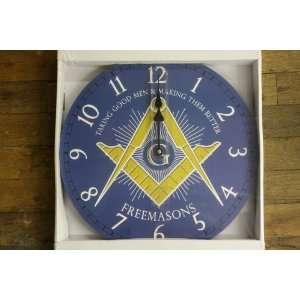 Freemason Master Mason Wall Clock Blue Home & Kitchen