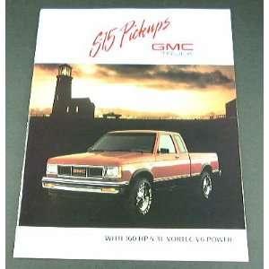 1989 89 GMC S 15 S15 Pickup TRUCK BROCHURE High Sierra