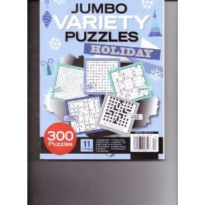 com JUMBO Variety Puzzles. Holiday Edition. 2011/12. Various. Books