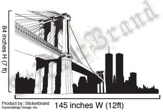 Vinyl Wall Decal Sticker Brooklyn Bridge New York NYC