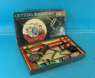 Aurora Crystal Radio Set & Original Box Electronic Model 1604 2.98 Vtg