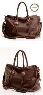 NWT Genuine leather STELLA Satchel bag purse+long strap