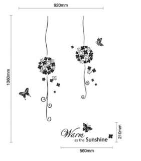 BIG Sunshine Flowers Adhesive Removable Wall Decor GRAPHIC Sticker