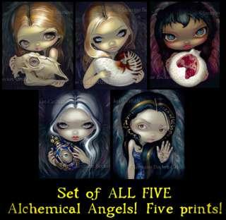 Alchemy Angels fairy lowbrow art gothic PRINT SALE