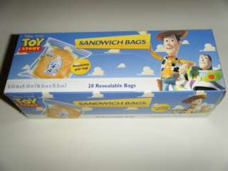 Disney Clear Ziploc Sandwich Bag Box Lunch Party Favors