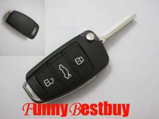 AUDI A3 A4 A6 A8 TT Q5 Q7 3 BUTTON REMOTE FLIP KEY KEYLESS ENTRY FOB