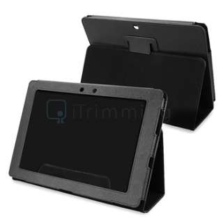 Leather Case+Guard+Headset+Car+AC Charger For Asus Eee Pad Transformer