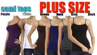 Plus Size Women Seamless Cami Tank Top Spagetti Tunic Camisole Pick
