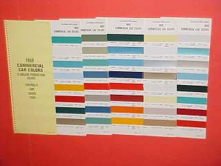 1968 CHEVROLET DODGE FORD TRUCK PAINT CHIPS COLOR CHART