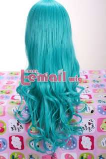 Anime Long Green Wavy Emerald cos Cosplay party hair Wig CW182