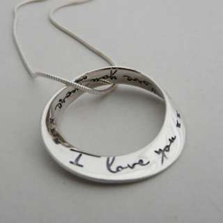 love you more mobius pendant 16 silver necklace: Necklaces