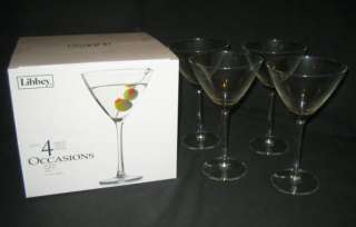 LIBBEY Occasions 4 martini cocktail glasses 350 ml