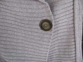 Coldwater Creek Wide Ribbed Shawl Collar Cardigan