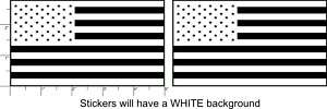 AMERICAN FLAG Vinyl Sticker Decals Different Colors