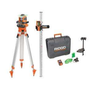 RIDGID Green Auto Leveling Rotary Laser Level Kit GRL9202 at The Home