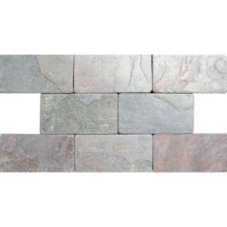 International 3 In. x 6 In.Bologna Multi Color Slate Floor & Wall Tile