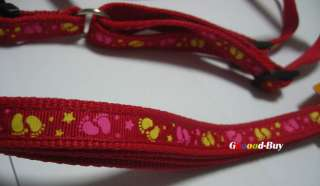 Pet dog cat Adjustable Leash Lead & harness S size 1.5