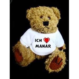 Teddy Bear mit Ich liebe Manar t shirt  Spielzeug