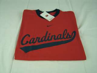 Mens Nike MLB St. Louis Cardinals Ringer Red / Navy T Shirt any sz M L
