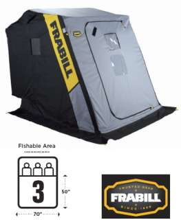 Frabill Excursion Portable Ice Fishing House Shelter   6127