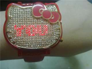 Chouette Hello Kitty LED Message Watch LIMITED EDITION