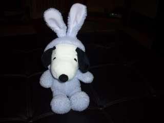 Snoopy Easter Bunny Stuffed Plush Doll Peanuts 15 HTF