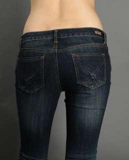 MOGAN Straight Leg Low Rise DarkBlue Denim Jeans 9/29