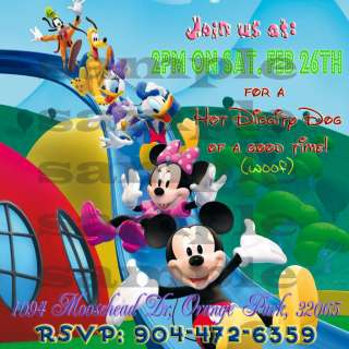 Customized Mickey Mouse Clubhouse Invitations Birthday