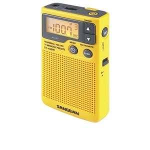 Sangean DT 400W AM/FM Pocket Radio   Emergency Alert, LCD Display