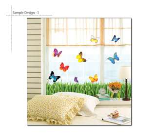 DIY Home Docor Art Wall Sticker Mural BUTTERFLY GARDEN
