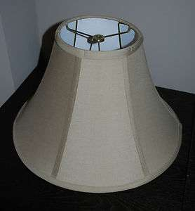BRAND NEW CONTEMPORARY TAN/TAUPE BELL LAMP SHADE  LARGE