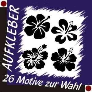 HIBISKUS Aufkleber Autoaufkleber Sticker Blume 30 cm