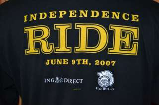 HARLEY DAVIDSON INDEPENDENCE RIDE 2007 T SHIRT MENS XL