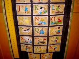 Fabric Wilmington ABC PRIMER 30s retro Alphabet kids GROWTH CHART