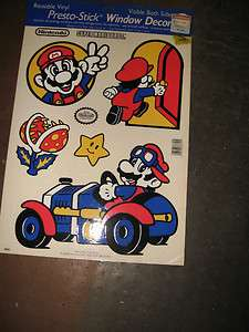 Nintendo Super Mario Bros Jumbo window cling stickers