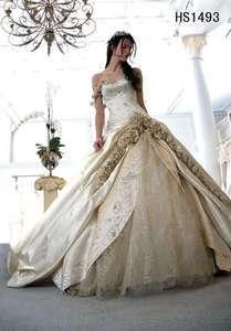 Noble Wedding Dress Quinceanera Birde Prom Gown Custom