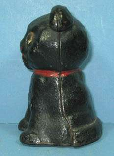 OLD CAST IRON BANK CUTIE SITTING PUPPY HUBLEY GUARANTEED OLD