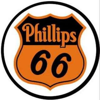 Metal   Tin Sign PHILLIPS 66 Round Garage Sign