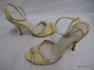 Jill Stuart Leather Sling Back Ankle Strap Heels 6B