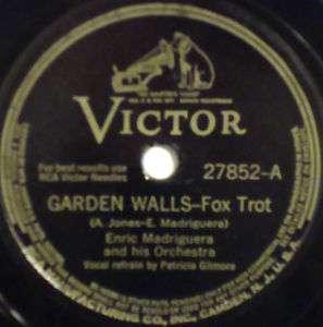 ENRIC MADRIGUERA & ORCHESTRA Garden Walls VICTOR~27852