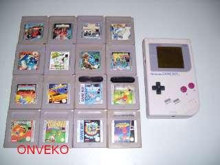 Nintendo Game Boy Gameboy Classic Konsole + Spiele Spielepaket