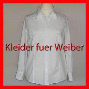 Edle GERRY WEBER BLUSE, Stickerei, Baumw. Weiß 48 NEU