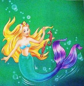 The Little Mermaid Fabric Block Colorful Fairy Tale LG
