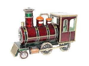 New Swarovski Crystal Red Locomotive Train Trinket Box