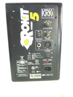 KRK Systems Rokit Powered 5 Studio Speaker Monitor w Power Cord Sound