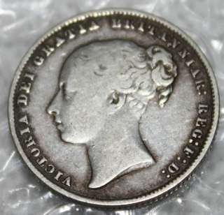0045# 1866 UK (Great Britain) 1 Shilling.VICTORIA