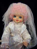 1986 BRINNS June Calendar Clown Bride Groom Doll Nice