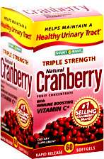 Natures Bounty Natural Cranberry Triple Strength 60cap