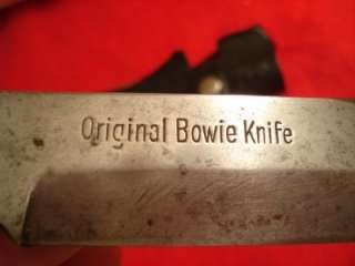 BOWIE KNIFE STAG HANDLE VINTAGE ORIGINAL BOWIE SOLINGEN GERMANY V (OLD